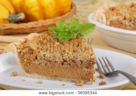 Slice Of Streusel Pumpkin Pie
