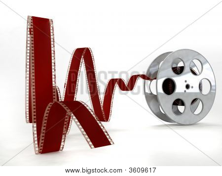 Film Reel On White Background