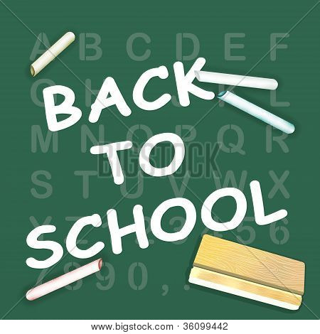 """Back To School"" no quadro-negro do alfabeto"