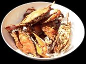 Crab - Cooked Blue Crabs In Bowl 08 poster