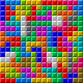 Colorful Tetris board background