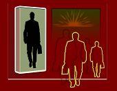 Business Figures Walking