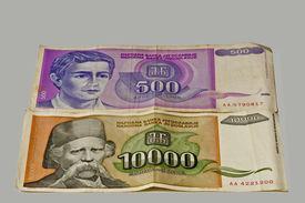 foto of former yugoslavia  - former money of Yugoslavia - JPG