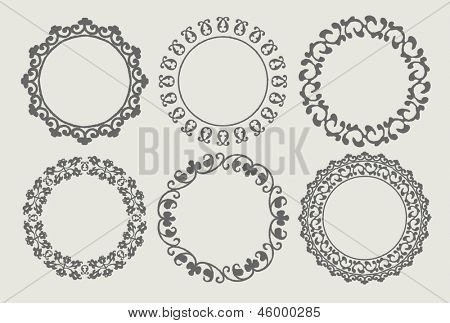 Various circular borders