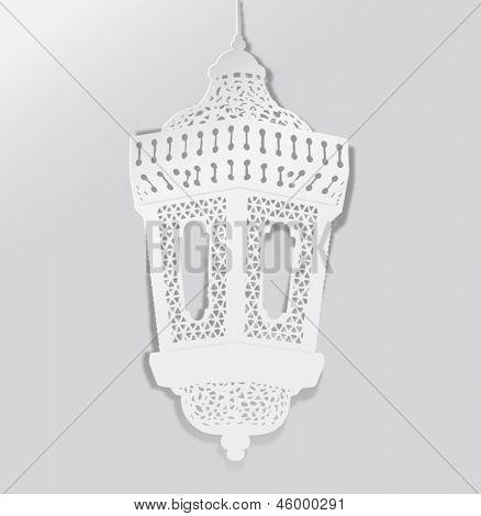 Decorative Ramadan lantern- paper craft style vector