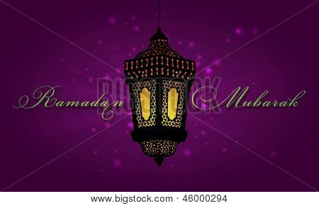 Ramadan Mubarak- A greeting card template
