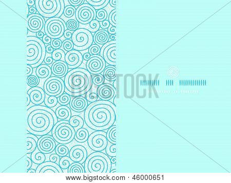 Abstract swirls horizontal seamless pattern background