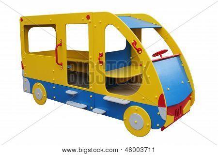 El Bus infantil madera