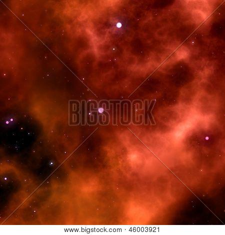 Orange Space Nebula