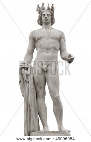 Apollo Statue Isolated