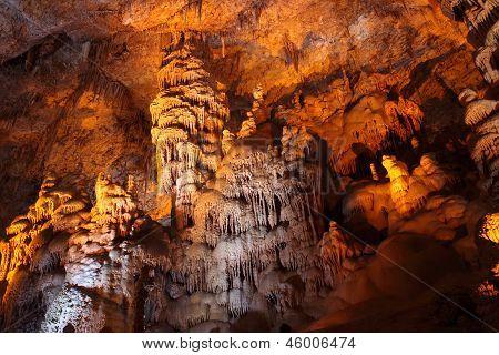 Stalactite stalagmite cavern.