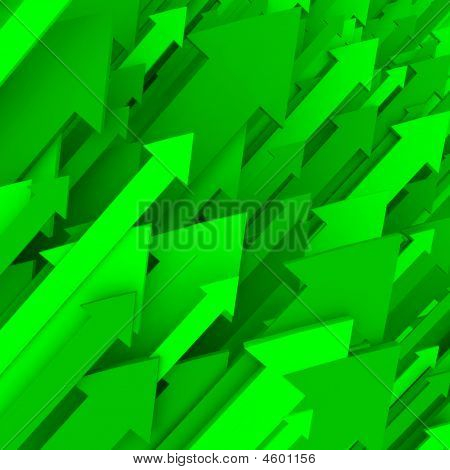Green Arrow Background - Solid