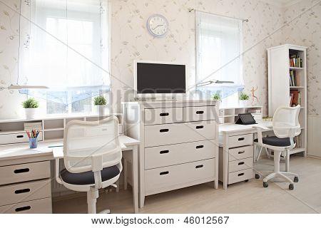 Interior Shot Of Kid's Room
