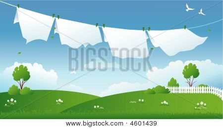 Scene With Drying Laundry