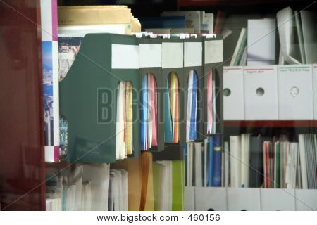 Bookshelf And Office Files