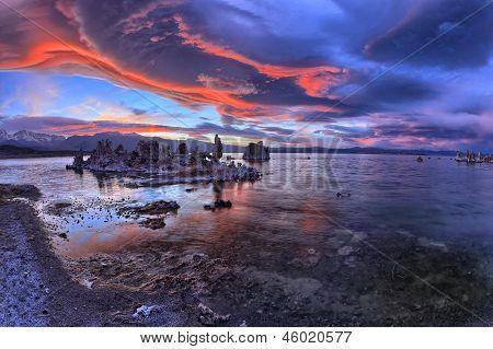 fantastic clouds over Mono Lake
