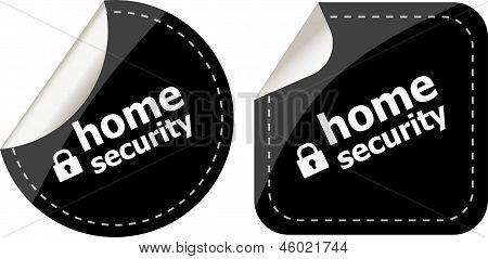 Segurança Home com bloqueio em conjunto preto adesivos