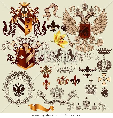 Collection Of Heraldry Elements For Your Heraldic Projects