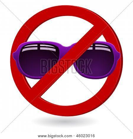 sunglasses forbidden sign