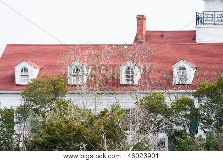 Dormers On Red Shingle Roof