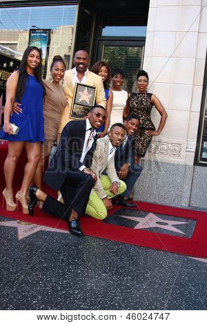 LOS ANGELES - MAY 13:  Steve Harvey and his Family at the Steve Harvey Hollywood Walk of Fame Star Ceremony at the W Hollywood Hotel  on May 13, 2013 in Los Angeles, CA