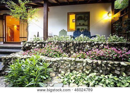 Nice house with beautiful flower