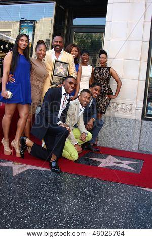 LOS ANGELES - MAY 13:  Steve Harvey, Family at the Steve Harvey Hollywood Walk of Fame Star Ceremony at the W Hollywood Hotel  on May 13, 2013 in Los Angeles, CA