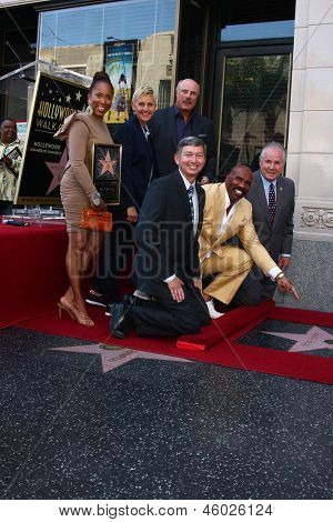 LOS ANGELES - MAY 13 Marjorie Harvey, Ellen DeGeneres, Dr. Phil McGraw; Leron Gubler, Steve Harvey, Tom LeBonge at the Steve Harvey   Walk of Fame   on May 13, 2013 in Los Angeles, CA