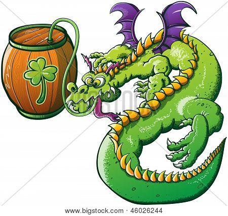 Saint Patrick's Day Drunk Dragon