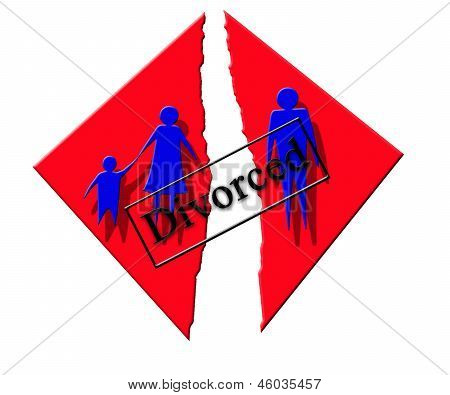 Vector Symbolizing Divorce In Family