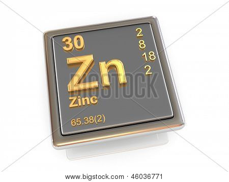 Zinc. Chemical element. 3d