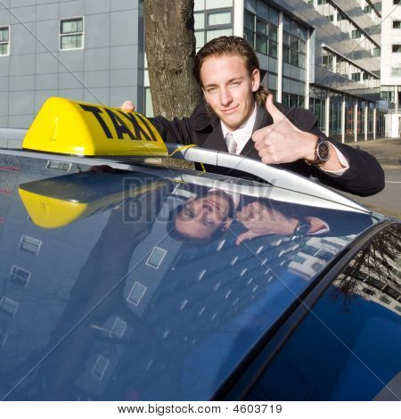 Smiling Taxi Driver