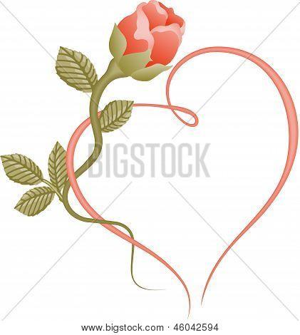 Rose heart frame