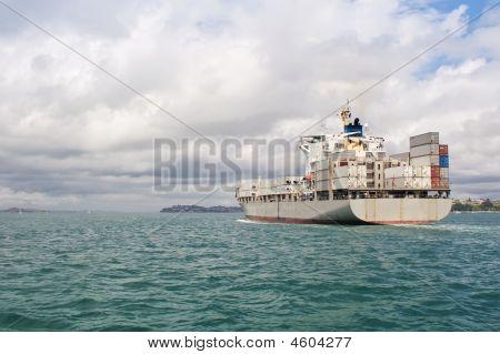 Ship In Hauraki Gulf