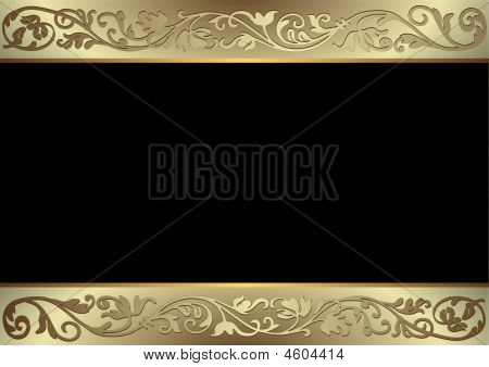 Black, Golden And Silvery Background (vector)