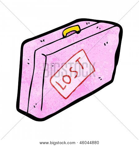 cartoon luggage