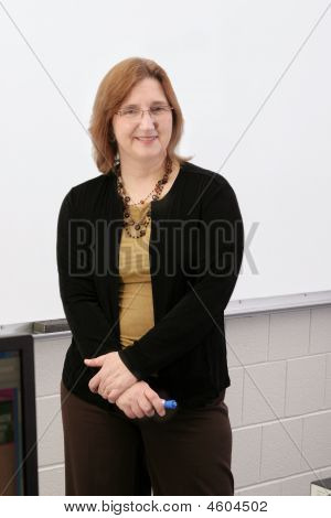 Teacher At The White Board
