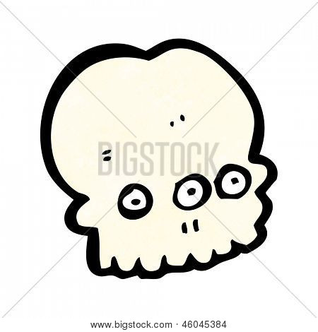 weird spooky skull cartoon