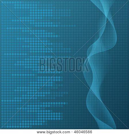 Digital blue equalizer background