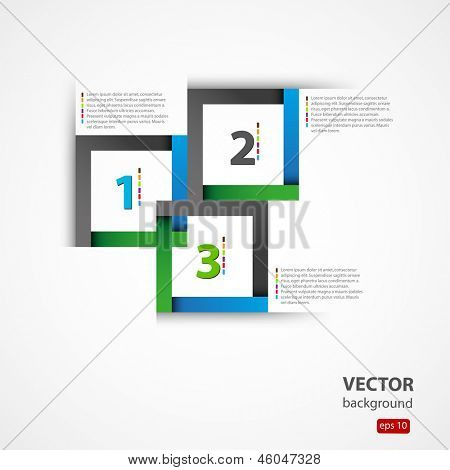 Modern origami style options banner Vector illustration, you can all easy editable