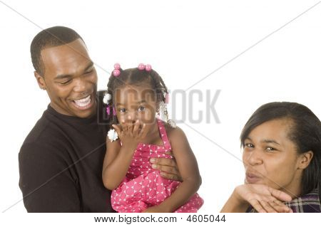 Man Holding Niece In Arms