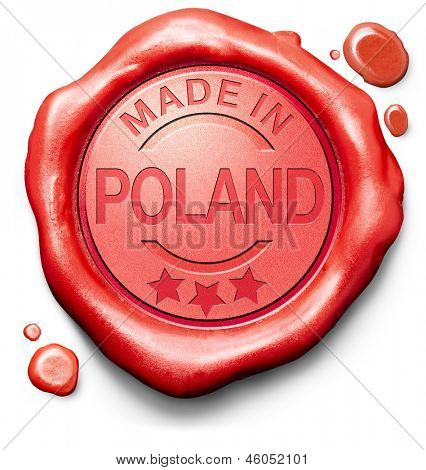 made in Poland original product buy local buy authentic Polish quality label red wax stamp seal