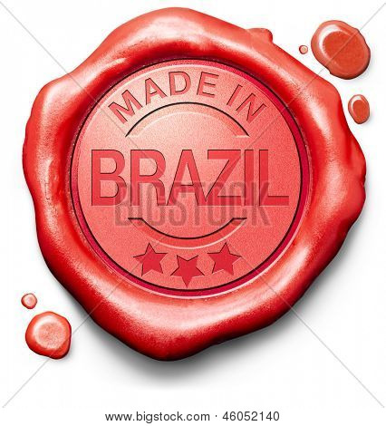 made in Brazil original product buy local buy authentic Brazilian quality label red wax stamp seal