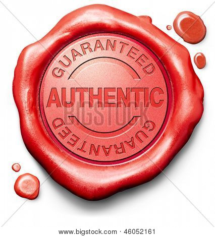 guaranteed authentic stamp red wax seal quality label authenticity guarantee assurance label for highest product control