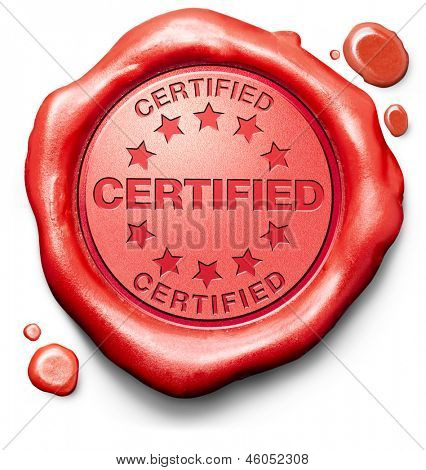 certified professional qualified pro red stamp label or icon