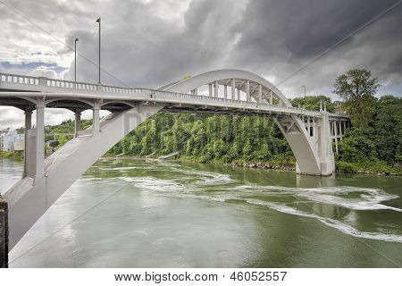 Oregon City Bridge Over Willamette River