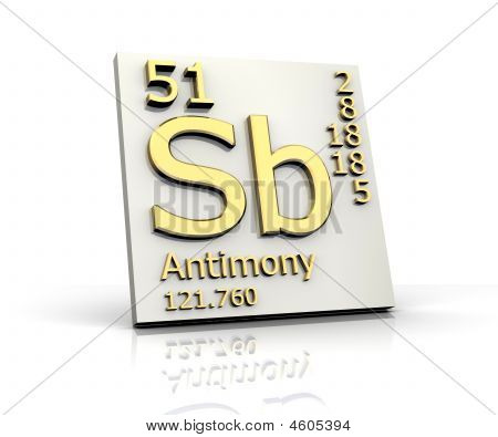 Antimony Form Periodic Table Of Elements