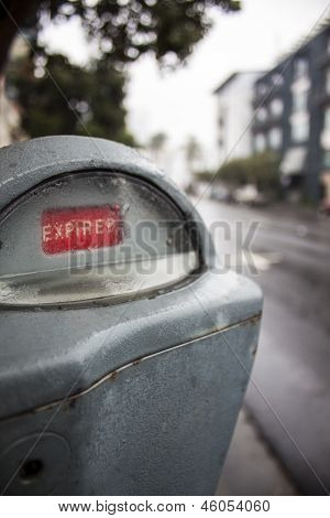 Expired Parking Meter in Downtown San Diego, CA