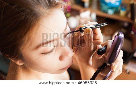 Close Up Woman In Makeup
