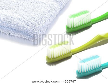 Tooh-brushes And Face Towel